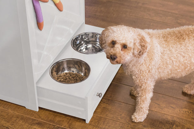 zoovilla dog feeding station -white