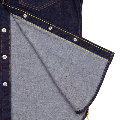 12oz IHSH-33-Indigo Selvedge Denim Western
