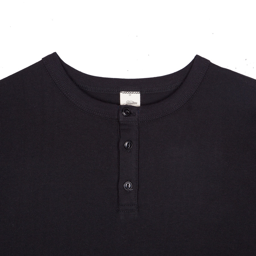 3sixteen Long Sleeve Henley Black