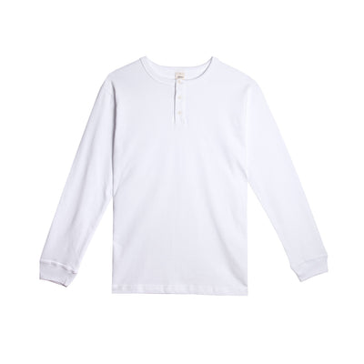 Long Sleeve Henley White