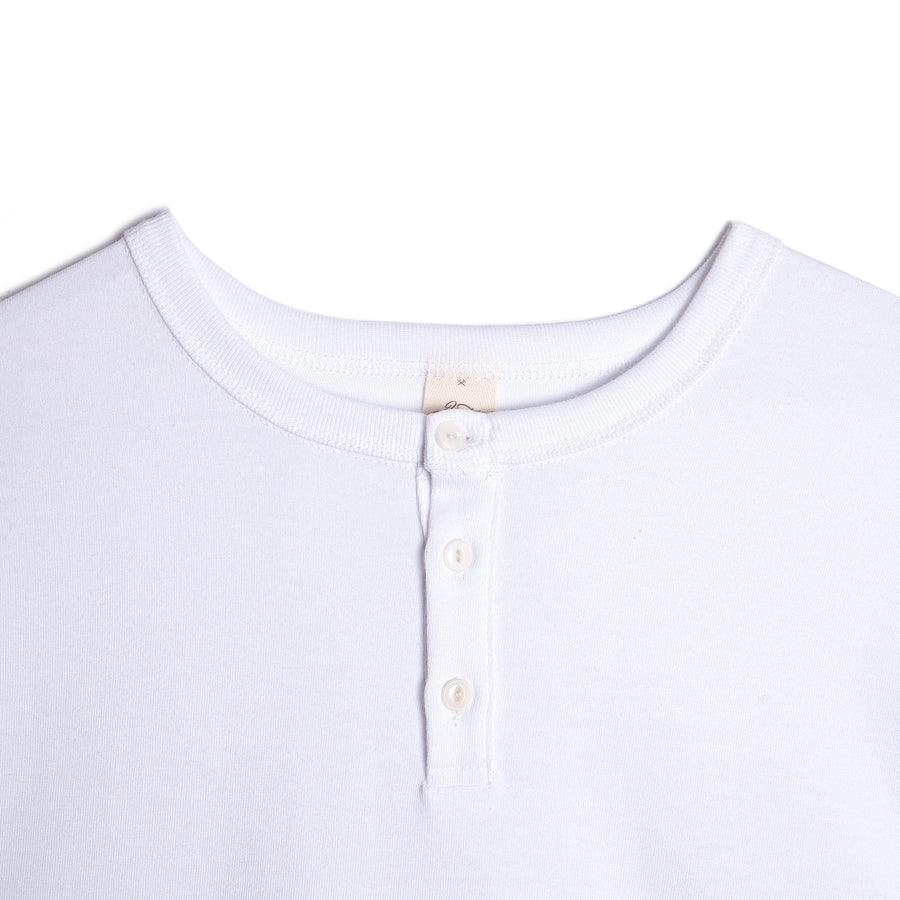 3sixteen Short Sleeve Henley White