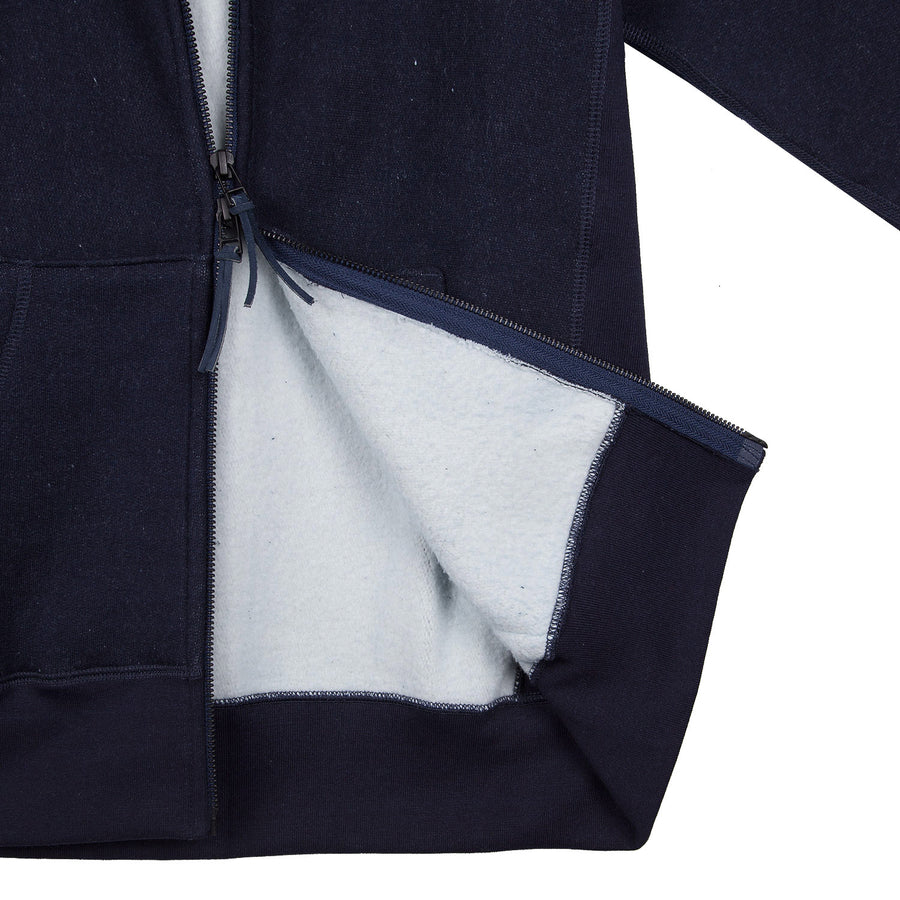 Heavyweight Zip Hoody Indigo