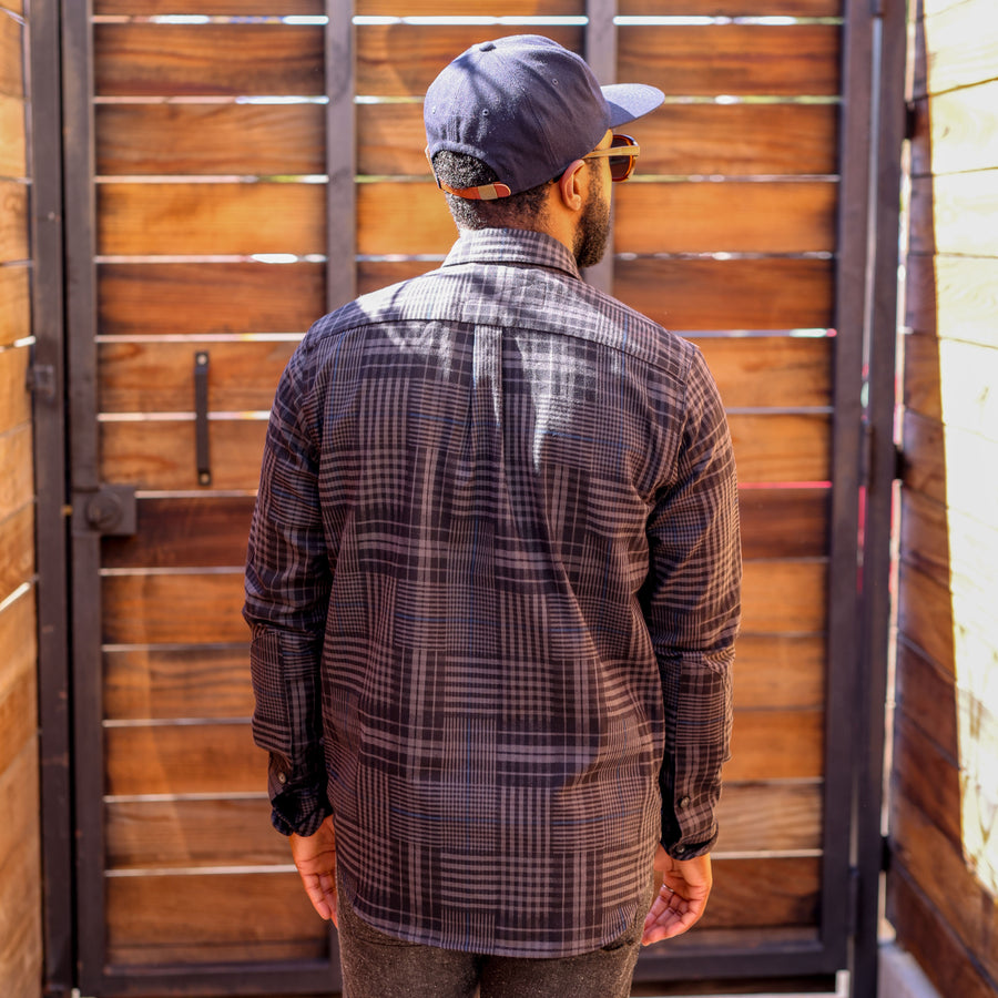 Jumper Shirt Dark Grey Plaid