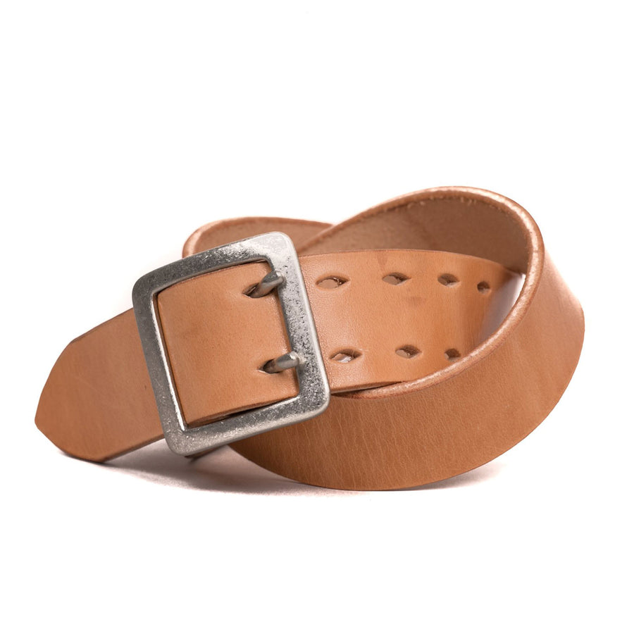 "1.5"" Dual Prong Belt Natural Veg Tan"