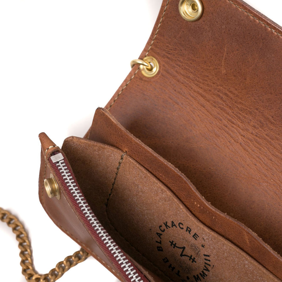 Legion Trucker Wallet Mid Brown Domain Leather