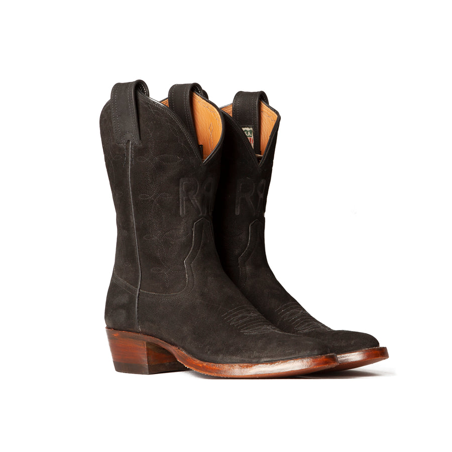 Limited Edition Plainview Boot Black Roughout