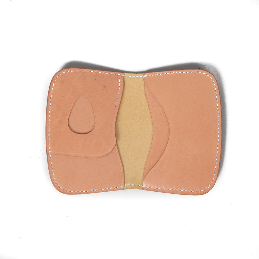 """Cult"" Card Holder Natural Veg Tan"