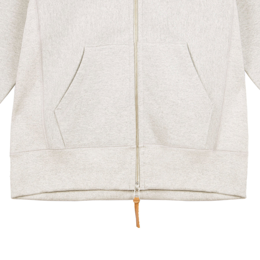 Heavyweight Zip Hoody Oatmeal
