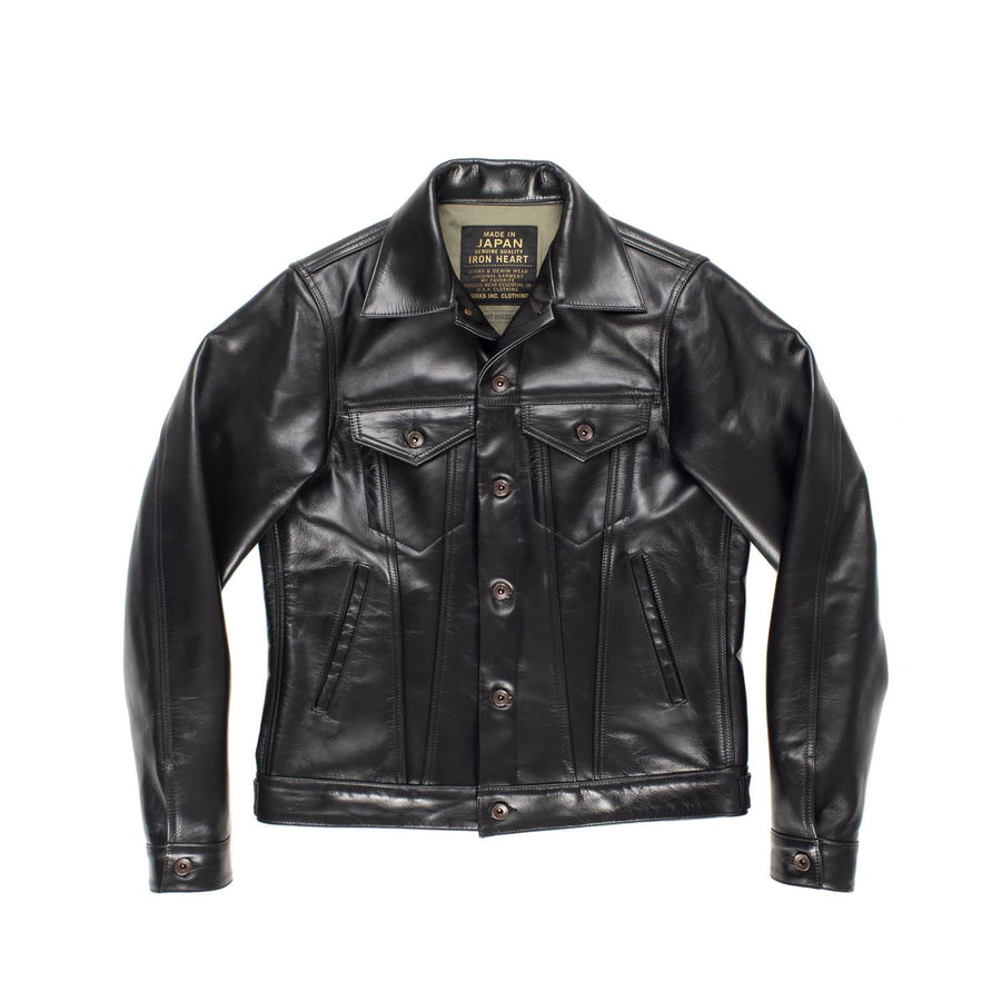 IH-64-BLK Horsehide Modified Type 3 Black