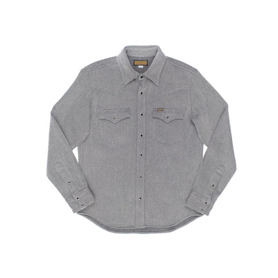 IHSH-254-GRY Top Dyed Heavy Kersey Western Grey
