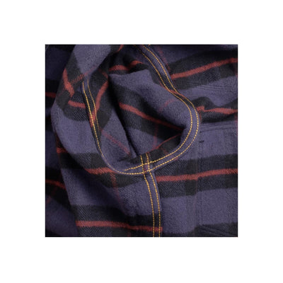 IHSH-260-PPL Ultra Heavy Flannel Tartan Check Western Purple