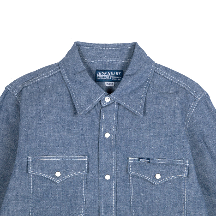 "10oz ""IHSH-13-BLU"" Selvedge Chambray Western Shirt"