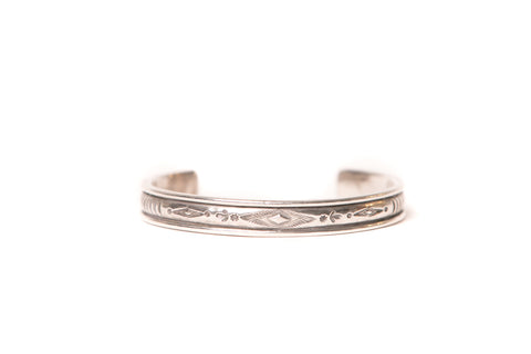 Mt. Hill Sterling Silver Medium Diamond Cuff