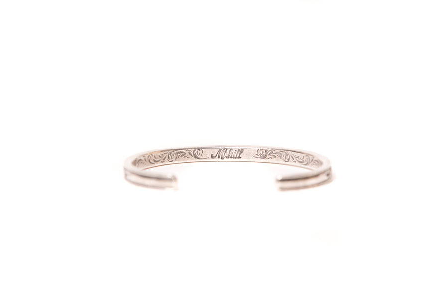 Sterling Silver Slim Diamond Cuff