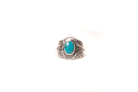 Mt. Hill Sterling Silver Sunburst Ring Candelaria Stone