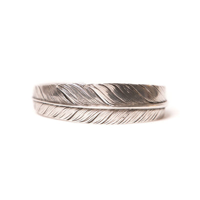 Sterling Silver Wide Feather Cuff
