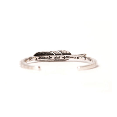 Sterling Silver Medium Twist Feather Cuff