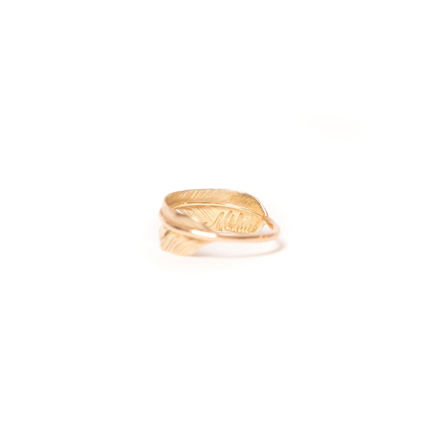 18k Gold Feather Ring