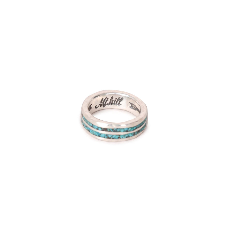 Sterling Silver Turquoise Inlay Ring Narrow