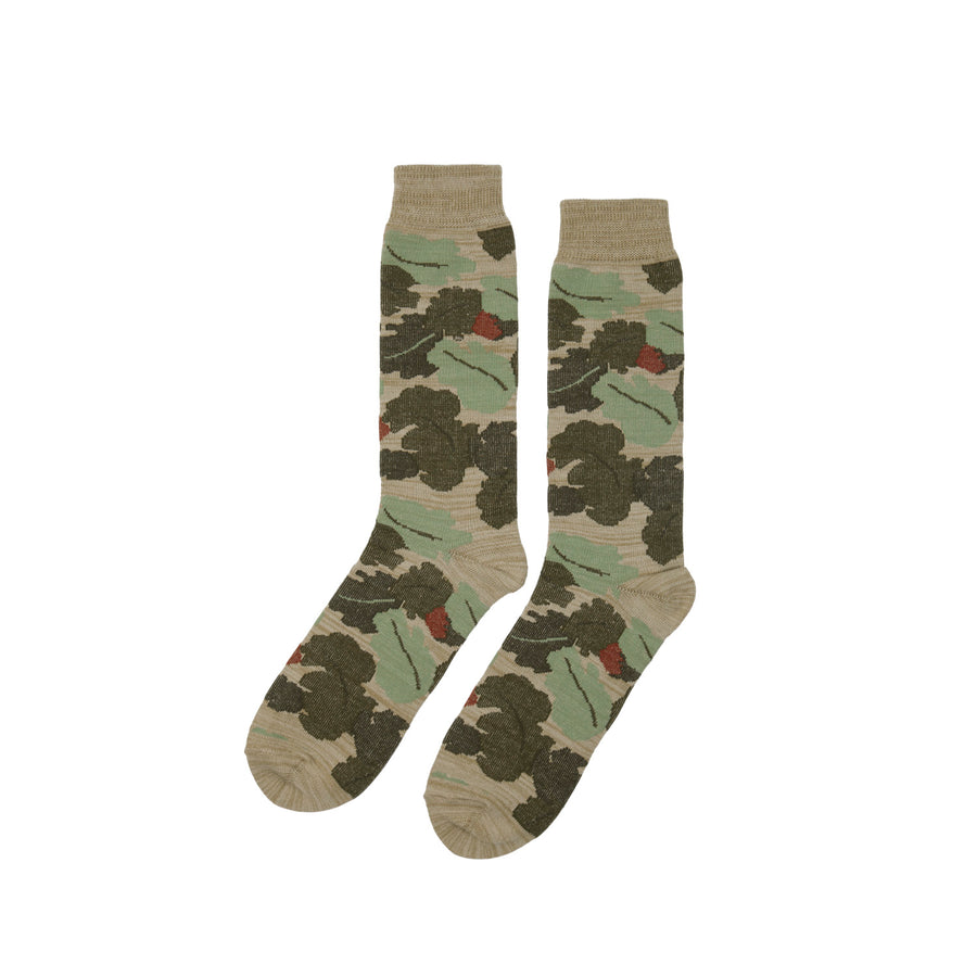 Oak Leaf Camouflage Boot Sock