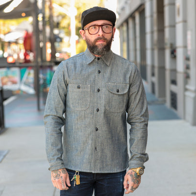 Work Shirt Light Indigo Canvas