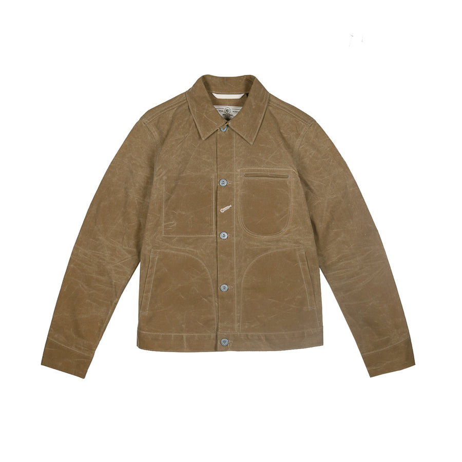 Waxed Ridgeline Supply Jacket Tan