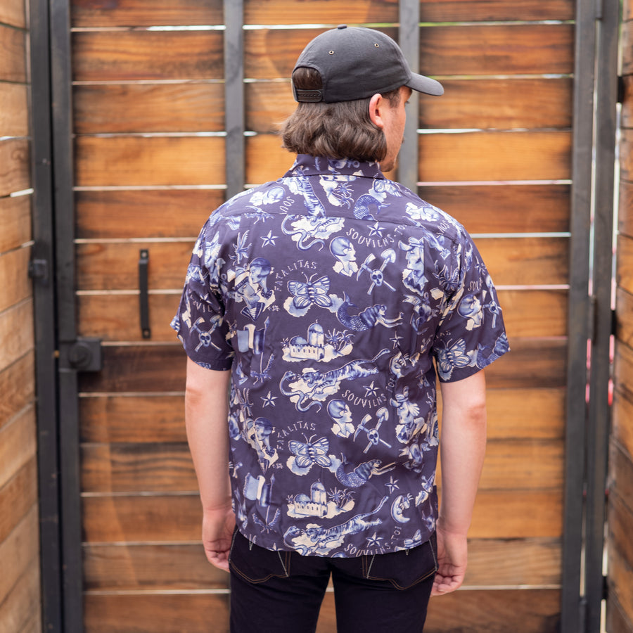 "Rock 'n' Roll Shirt ""Biribi"" Navy"