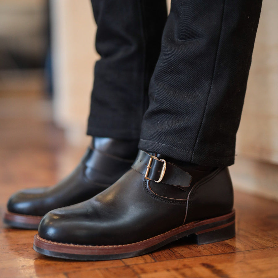 Murdock Leather Engineer Boot Black