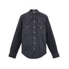 Slim Fit Denim Western Shirt Raw