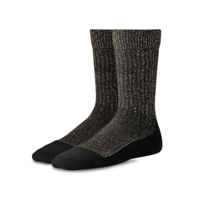 Deep Toe Capped Wool Sock Black