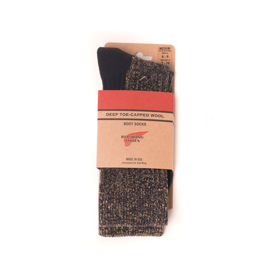Deep Toe-Capped Wool Sock Navy