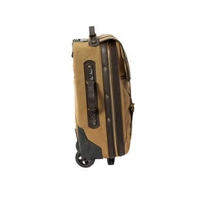 Rugged Twill Rolling 4-Wheel Carry-On Bag Tan