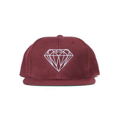 Diamond & Key Snapback Wool Hat Maroon