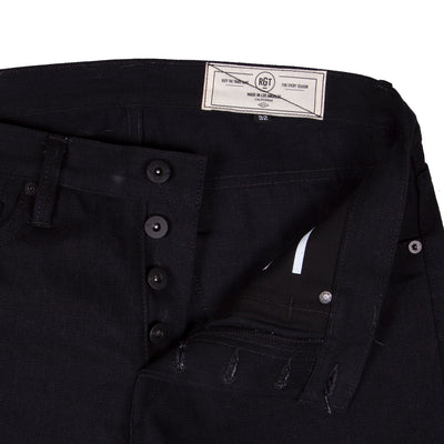 17oz Slub Stealth Stanton Slim Straight Jean Black