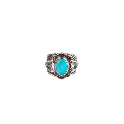 Sterling Silver Sunburst Ring Pilot Mountain Turquoise