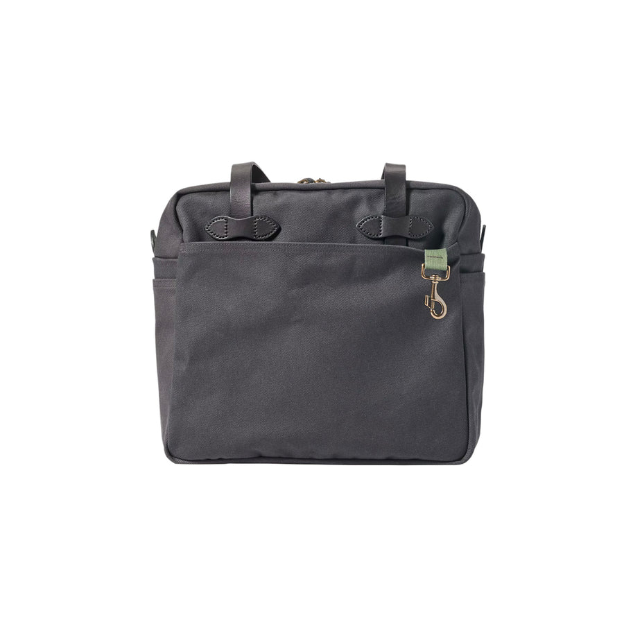 Rugged Twill Zippered Tote Bag Cinder