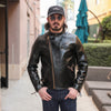 HR-01 Horsehide Cross-Zip Single Rider Jacket