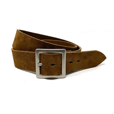 1.5 Inch Roughout Belt Brown W/ Nickel