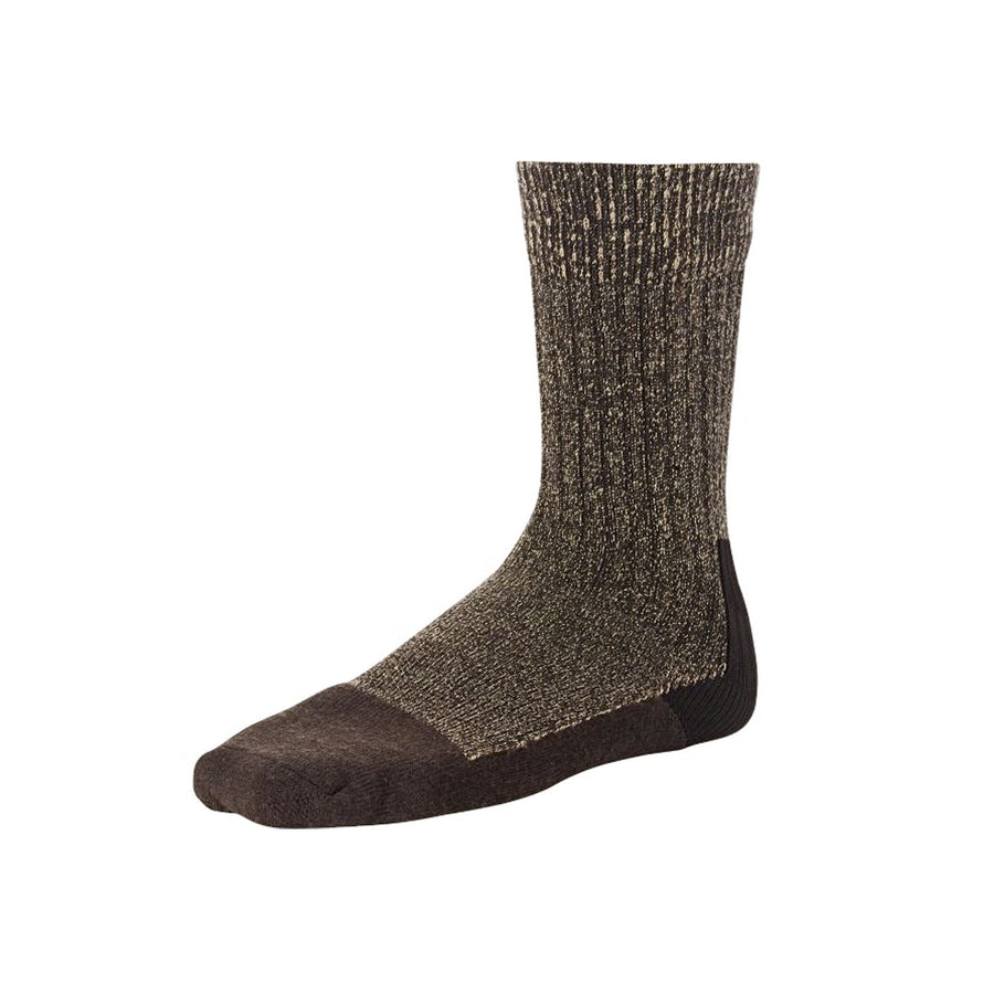 Deep Toe Capped Wool Sock Brown