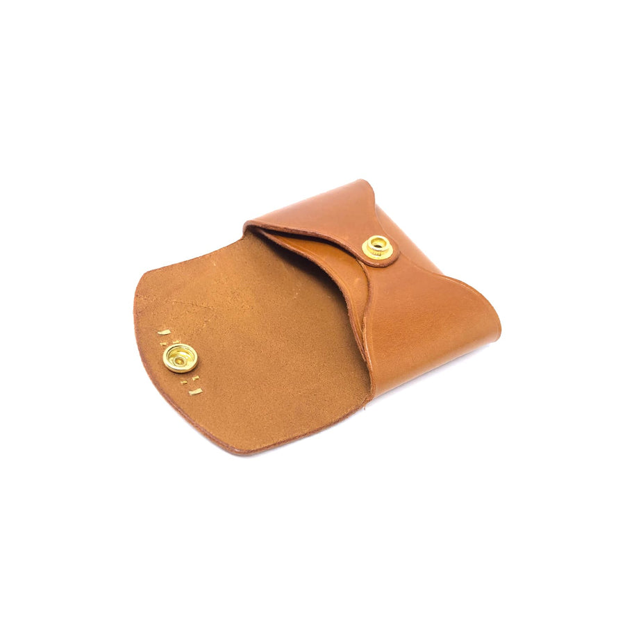 Grimoire Card Holder Whiskey Bridle Leather