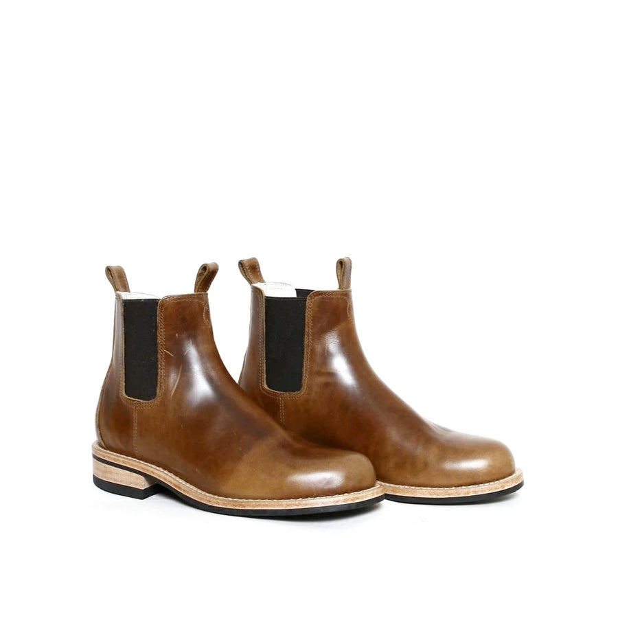 Semi-Dress Chelsea Boot Light Brown Oiled Leather