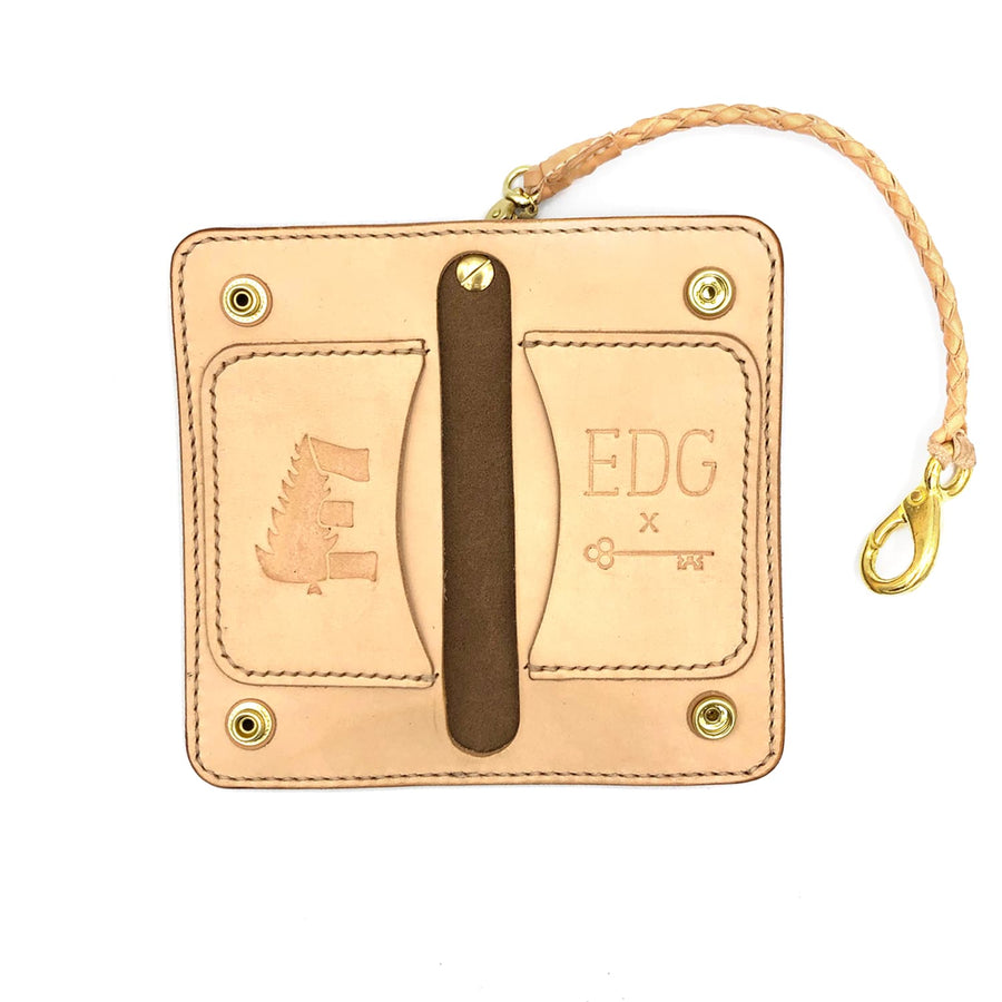 EDG x SOP Natural Chromexcel Trucker Wallet