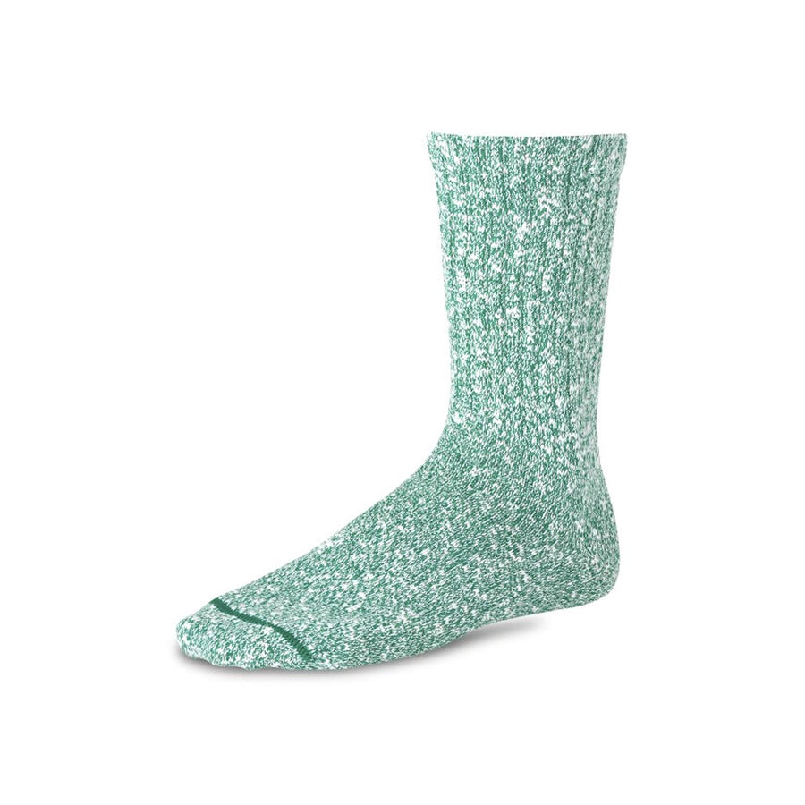 Cotton Ragg Sock Green & White