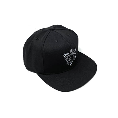 SOP Cotton Twill Snapback Black Rose