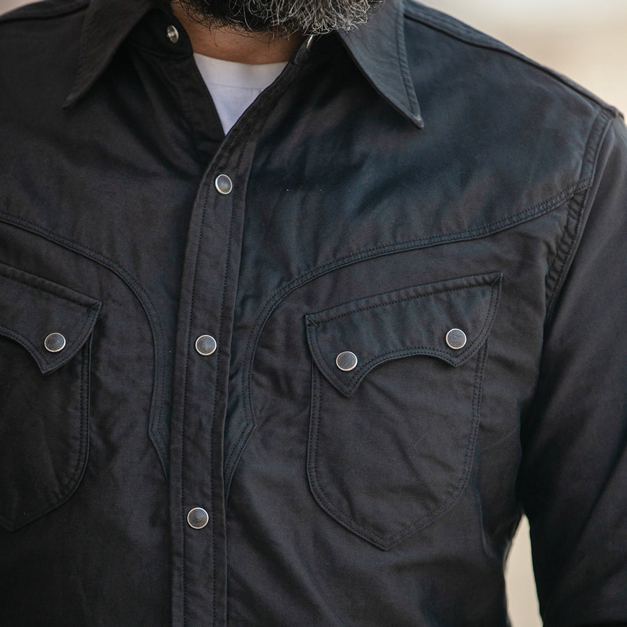 Cody Western Shirt Light Moleskin Charcoal