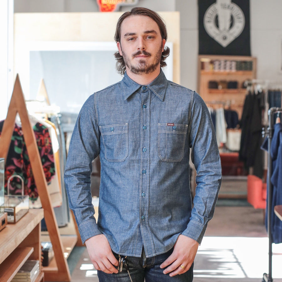 6oz IHSH-133 Selvedge Chambray Workshirt