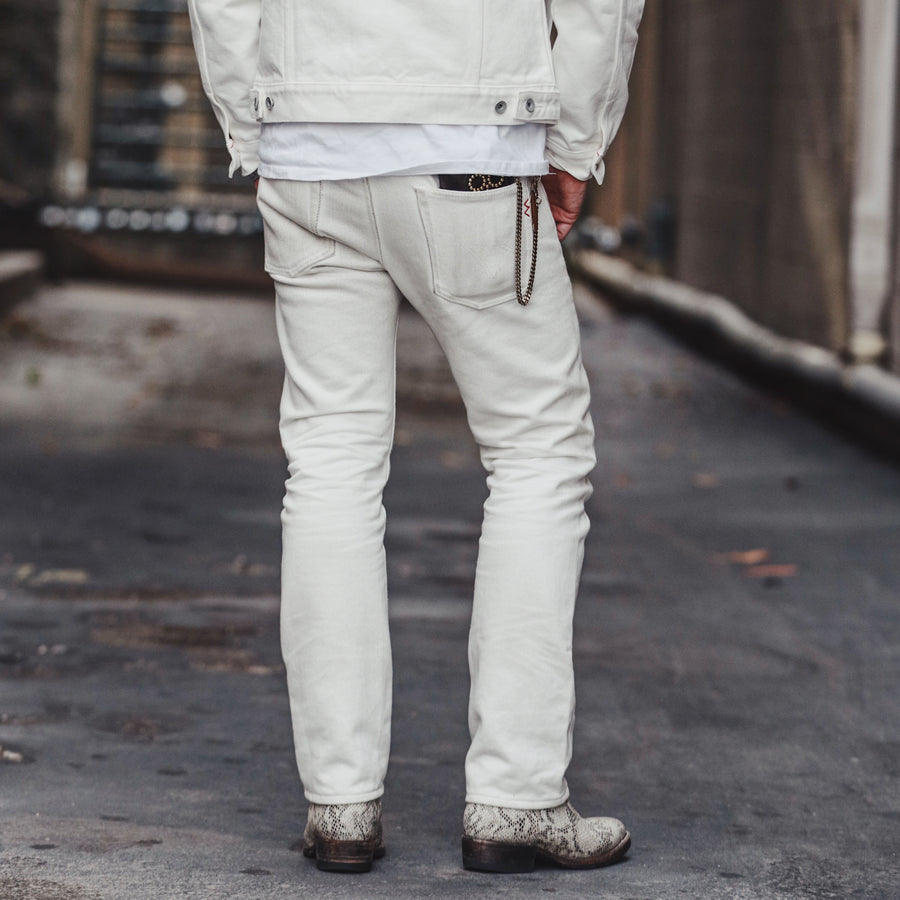 21oz IH-555S-WH Super Slim Jean White