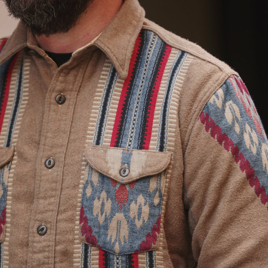 Southwestern Brushed Jacquard Workshirt