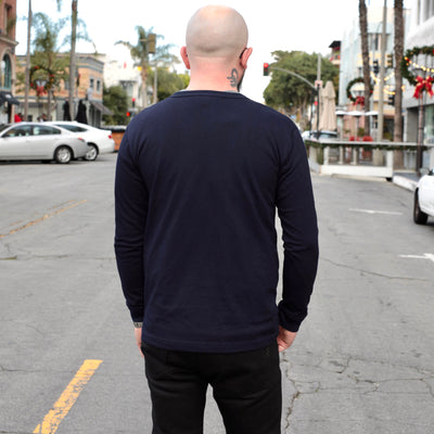 Long Sleeve Henley Indigo