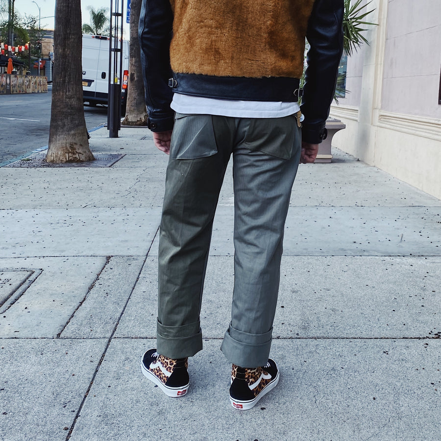 Fatigue Pant Olive Color Block